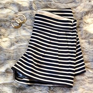 striped J.Crew high waisted shorts